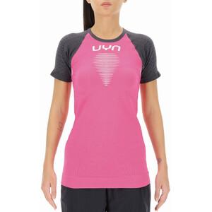UYN Marathon Kortærmet skjorte Damer, grå/pink grå/pink