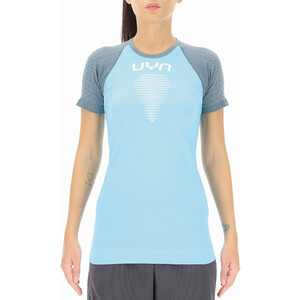 UYN Marathon Kortærmet skjorte Damer, blå/grå blå/grå