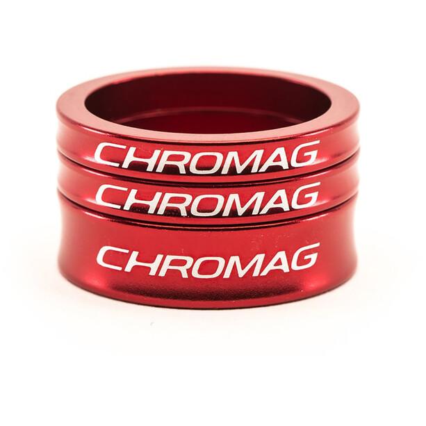 Chromag Headset Spacer Kit, rouge