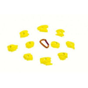 Fixe Back Street Climbing Holds S 10 Pack, żółty żółty