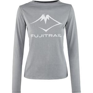 asics Fuji Trail Langarm T-Shirt Damen grau grau