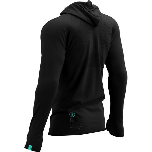 Compressport 3D Thermo Seamless Zip Hoodie Black Edition 2021 svart