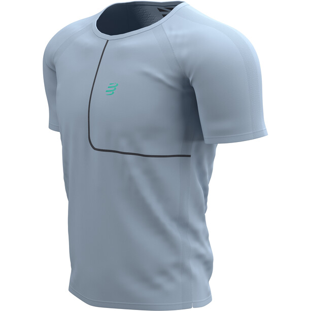 Compressport Training SS T-Shirt Born To SwimBikeRun 2021 Men, gris