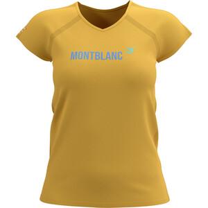 Compressport Training SS T-Shirt Mont Blanc 2021 Women, jaune jaune
