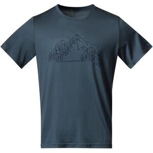 Bergans Graphic Wool Tee Herren blau blau