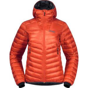 Bergans Senja Light Hooded Down Jacket Women, naranja naranja