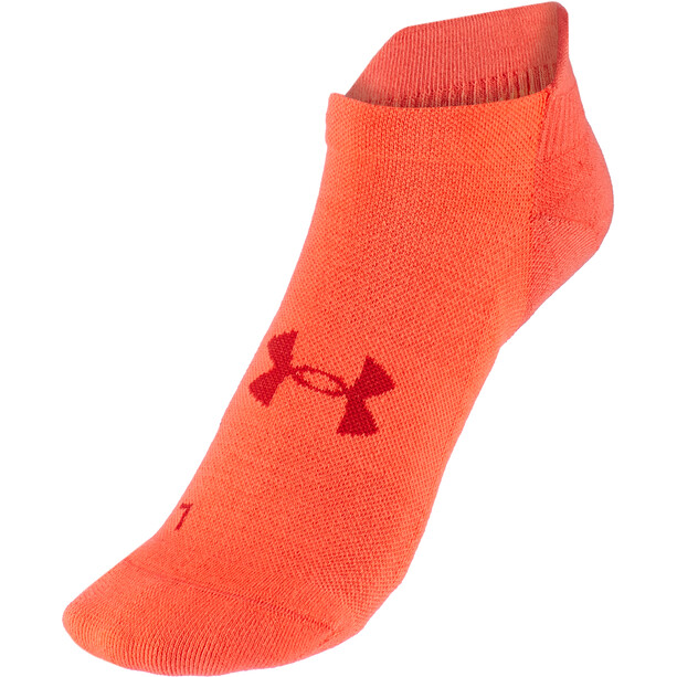 Under Armour Armourdry Run No Show Socks, rouge