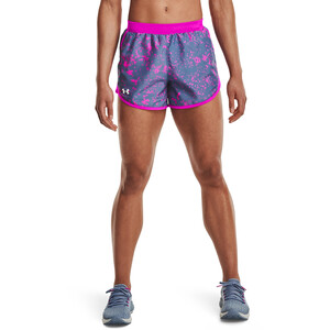 Under Armour Fly By 2.0 Printed Shorts Damen mineral blue-meteor pink mineral blue-meteor pink