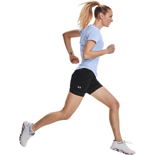 Under Armour Isochill Run 2-in-1 Shorts Damen black-black