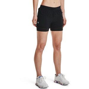 Under Armour Isochill Run 2-in-1 Shorts Damen black-black black-black
