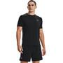 Under Armour Isochill Run 200 Short Sleeve Shirt Men, black-pitch gray