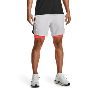 Under Armour Launch SW 2-In-1 7'' Shorts Herren halo gray-black halo gray-black