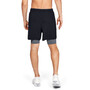 Under Armour Qualifier 2-In-1 Shorts Men, black-pitch gray