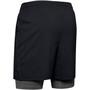 Under Armour Qualifier 2-In-1 Shorts Men, black-pitch gray