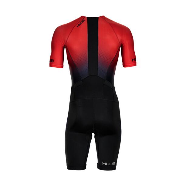 HUUB Commit Long Course Trisuit Herren schwarz/rot