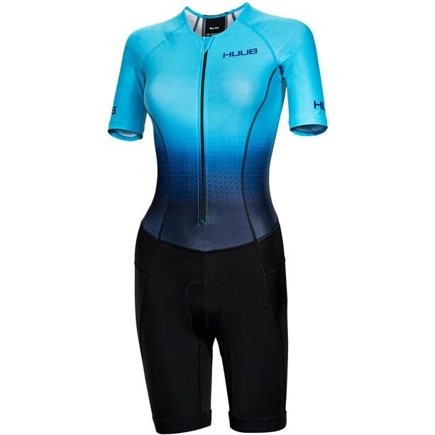 HUUB Commit Long Course Trisuit Damen schwarz/türkis