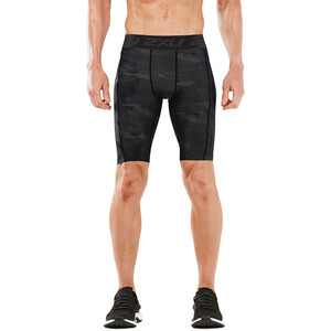 2XU Accelerate Print Compression Shorts Men grå/svart grå/svart