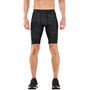 2XU Accelerate Print Compression Shorts Herren asphalt charcoal/nero