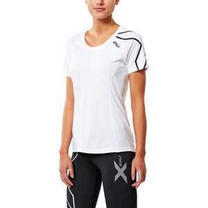 2XU Active Run Kurzarm Shirt white/black white/black