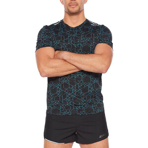 2XU GHST SS Shirt Men, sort/turkis sort/turkis