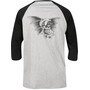 TSG Firecracker 3/4 Raglan T-Shirt black grey
