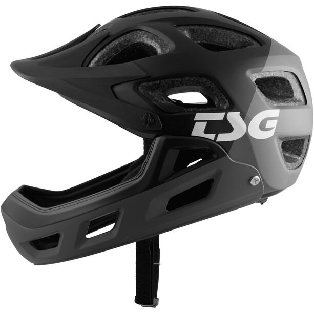 TSG Seek FR Graphic Design Helmet, flow grey-black