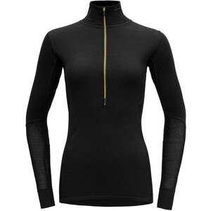Devold Wool Mesh Half-Zip Langarm Shirt Damen schwarz schwarz