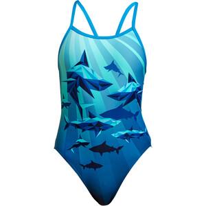 Funkita Single Strap One Piece Swimsuit Girls, bleu/turquoise bleu/turquoise