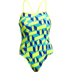 Funkita Single Strap Badeanzug Damen gelb/blau gelb/blau