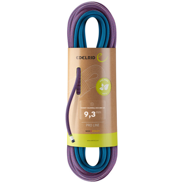 Edelrid Tommy Caldwell Eco Dry CT Rope 9,3mm x 60m, violetti/sininen