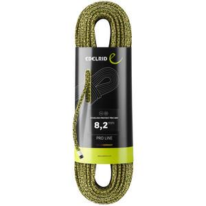 Edelrid Starling Protect Pro Dry Rope 8,2mm x 60m grön/gul grön/gul