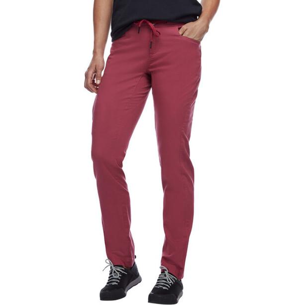 Black Diamond Credo Pants Women, rouge