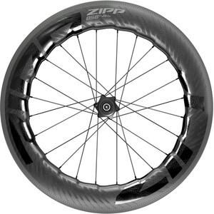 """Zipp 858 NSW Rear Wheel 28"""" SRAM/Shimano Road TLR Carbon, musta musta"""