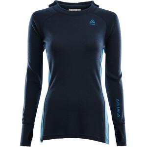 Aclima WarmWool Suéter con capucha Mujer, azul azul