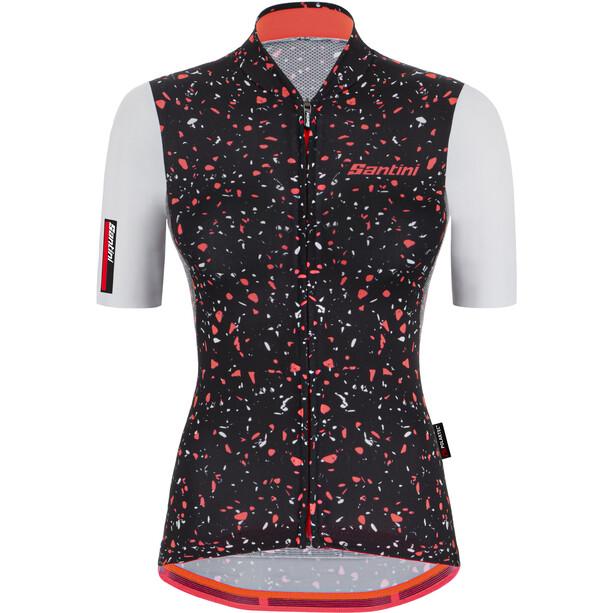 Santini Delta Pietra Cut Shortsleeve Jersey Women rød/svart