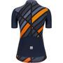Santini Plus Sleek Raggio Shortsleeve Jersey Women, bleu/orange