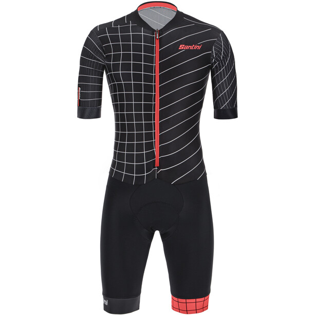 Santini Viper Dinamo Sprinter Road Suit Men Svart/rød