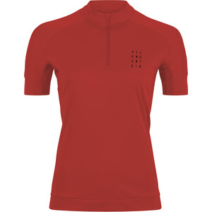Cube AM WS Puolipitkä Vetoketju Lyhythihainen Jersey Ajopaita Naiset, punainen punainen
