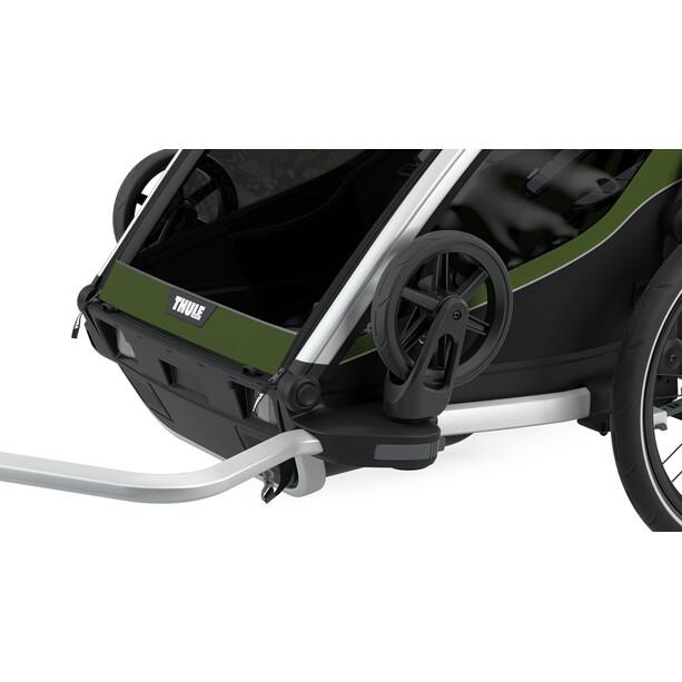 Thule Chariot Cab 2 Bike Trailer, oliven/grøn