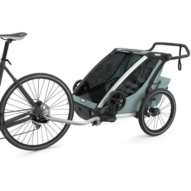 Thule Chariot Cross 2 Cykelanhænger, oliven/petroleumsgrøn