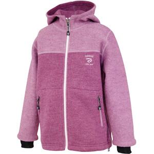 Ivanhoe of Sweden Block Hooded Jacket Kids, rose rose