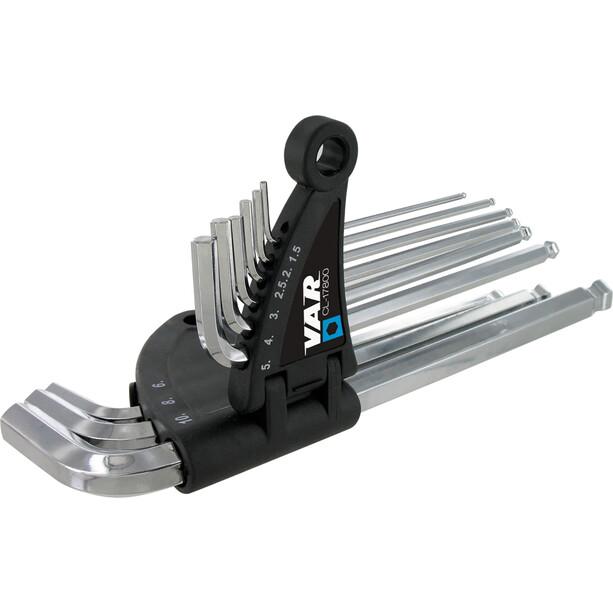 VAR CL-17800 Sechskant-Stiftschlüssel 9-Teilig