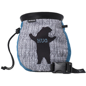Prana Graphic Chalk Bag, azul/gris azul/gris
