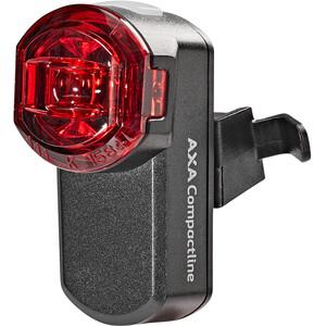 Axa Compactline Akku Rücklicht USB LED schwarz schwarz