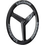 "FSA Vision Metron 3-Spoke Disc Front Wheel 28"" 6-Bolt Clincher TLR, noir"