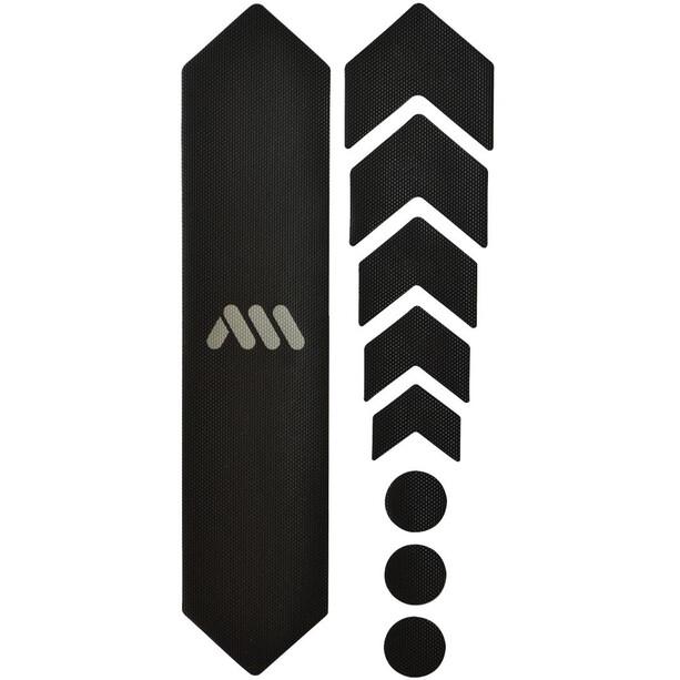 All Mountain Style Basic Schutzkit für Fahrradrahmen 9 Stück schwarz/silber
