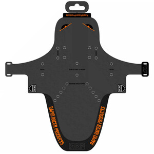 Rapid Racer Products EnduroGuard Mudguard Large svart/orange svart/orange