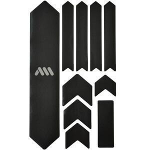 All Mountain Style Extra Schutzkit für Fahrradrahmen 10 Stück schwarz/silber schwarz/silber
