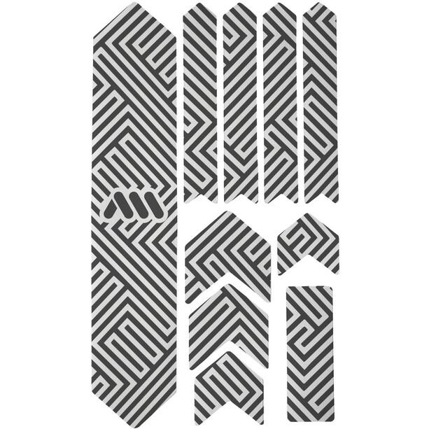 All Mountain Style Extra Schutzkit für Fahrradrahmen 10 Stück schwarz/weiß