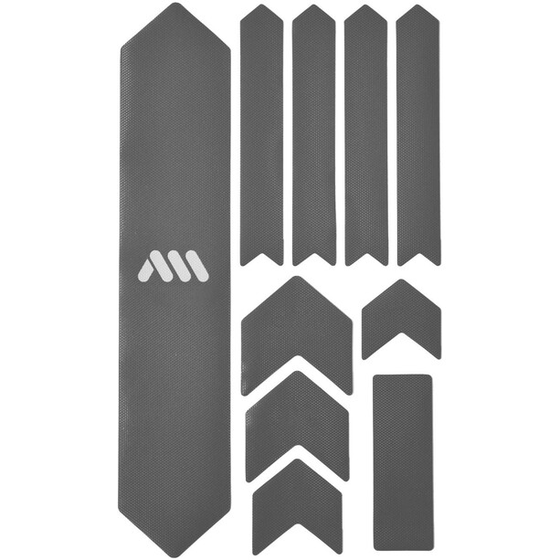 All Mountain Style Extra Schutzkit für Fahrradrahmen 10 Stück silber/weiß